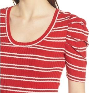 hinge Tops - NWT Red Striped Hinge Top
